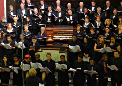 """""""Hymn to Freedom""""  (Oscar Peterson), American Mosaic. Buffalo Master Chorale and Select Choir from Buffalo Academy for Visual & Performing Arts, Doreen Rao, cond, Bethel AME Church, Buffalo, March 2014."""