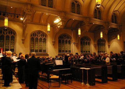 """Praise the Lord""  (Austrian hymn), Mozart and The Sound of Music. Buffalo Niagara Choirs and audience, Doreen Rao, cond. Holy Trinity Lutheran Church, Buffalo, October 2014."