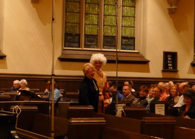 """Sound of Music"" medley, Mozart and The Sound of Music. Buffalo Niagara Choirs and audience, Doreen Rao, cond. Holy Trinity Lutheran Church, October 2014."